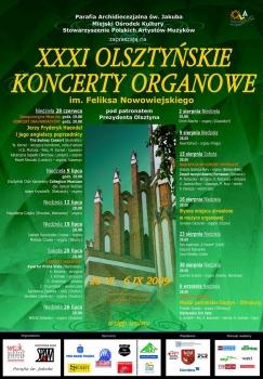 31. Olsztyńskie Koncerty Organowe