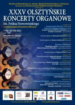 35. Olsztyńskie Koncerty Organowe