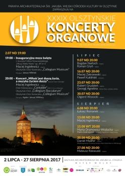 39. Olsztyńskie Koncerty Organowe